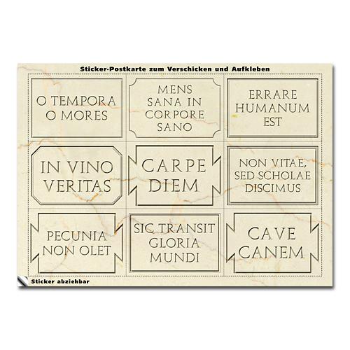 museion-versand gmbh - stickerpostkarte »lateinische zitate«