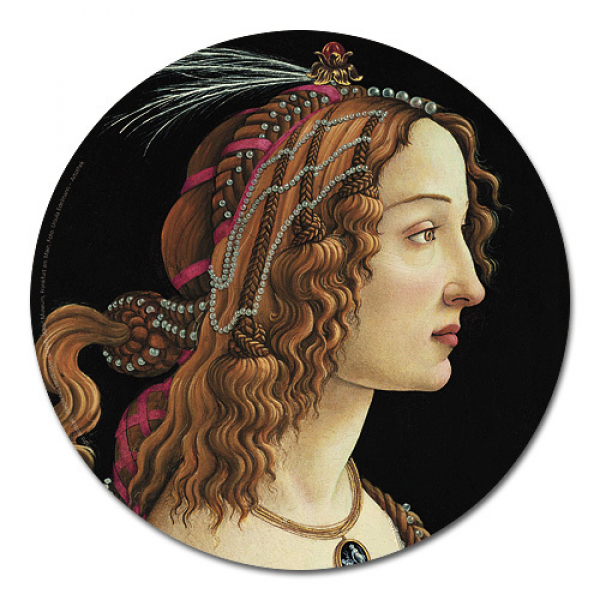Botticelli, Weibliches Idealbildnis - Mousepad