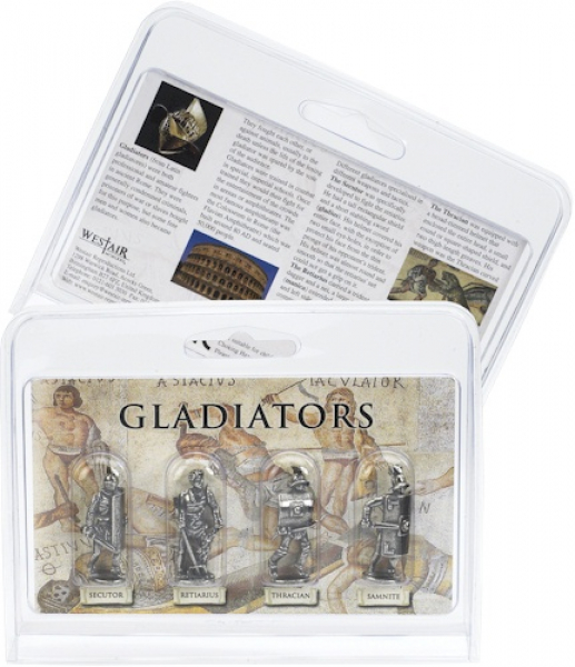 Gladiatoren-Set mit vier Figuren
