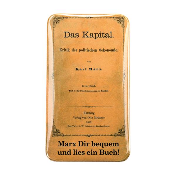 Karl Marx Magnetischer Flaschenöffner Mit Dem Cover Von Das Kapital